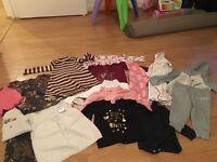 £10 9-12 months baby girl bundle excellent condition bundle
