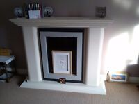 Living room fire and surround