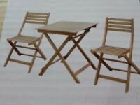 Wood Bistro Garden Furniture Set