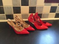 For Sale Ladies Mid to High Heels 2 Pairs for less than 1 pair.
