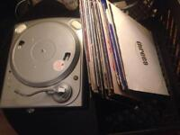 ION USB Turntable for parts + assorted LPs