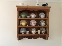 Solid wooden shelf unit