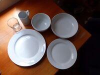 12 piece dinner set + pasta bowl + glasses + mug