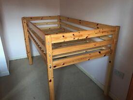 Thuka Mid Sleeper pine bed for sale