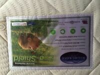King size MATTRESS : Highgrove Eco Shield, firm, as new, used for a week only, immaculate