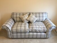 Brand new - MINT CONDITION- 2 seater check sofa from DFS RRP £700