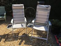 2 Sun loungers, very good condition, hardly used. £25 per chair