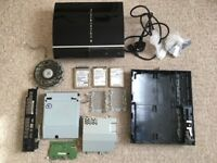 Sony PS3 Games Console with YLOD + 3 Hard Drives + Various other parts for PS3