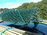 Green chain link fencing (used)