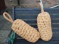 Pair of Coir Rope Boat Canal Narrow Boat Fenders Unused Condition