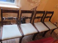 Dining room chairs (4x)