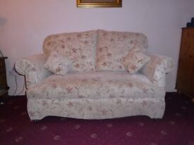 Sofa. Two seater with dropping arms to make a bed. Free to collect.