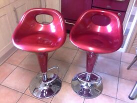 Two matching kitchen stools. Good working order. Some scratches.