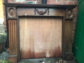 Victorian period mahogany fireplace