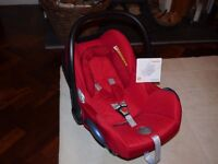 Maxi-Cosi CabrioFix Group 0+ Baby Car Seat, Robin Red