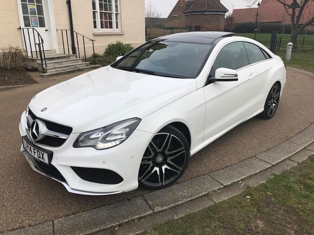 mercedes e220 cdi amg sport white coupe auto high spec. Black Bedroom Furniture Sets. Home Design Ideas
