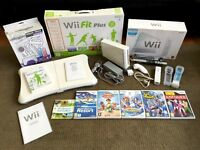 NINTENDO Wii BUNDLE - Console, Wii Fit Balance Board, Plus Games and Accessories!
