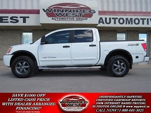 2014 Nissan Titan PRO-4X, 4x4, LEATHER, SUNROOF, NAV, TONNEAU