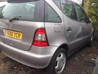 2001 MERCEDES A160 A CLASS. W168. 1.6 PETROL. BREAKING FOR PARTS SPARES ONLY. Silver.Paint Code 761