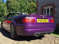 BMW M3 PURPLE MANUAL (low mileage)