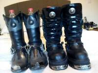 NEW ROCK BOOTS 2 PAIRS (1X COWBOY 1X REACTOR STYLE)