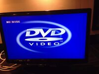 """Digitrex 22"""" TV with built in DVD (no remote control)"""