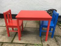 Ikea Small Children'sTable and two chairs