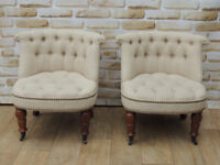Accent Stylish Baroque Inspired chairs x pair (Delivery)