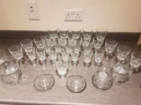 Glass glasses beautiful set 36