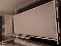 Ikea white toddler bed and mattress