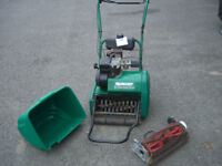 QUALCAST 35S scarifier & cylinder mower, self propelled, serviced, perfect for stripes & new lawns