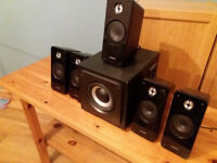 Surround Sound Speakers, Advent (5 Speakers & Subwoofer)