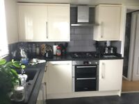 Kitchen Cupboards for sale 2yrs old Cooke & Lewis Raffello High Gloss Cream 15 units £600.