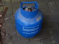 calor gas 4.5 kg full + regulator ideal for camping