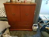 Vintage Retro Style Stag Tall boy Tallboy Dresser 2 Drawer Console