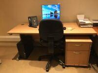 Beech finish desk 160cm wide