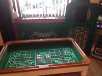 Casino/ Roulette/ Gaming table with roulette wheel and all accessories
