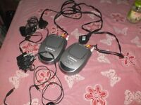 Audio Video AV RCA/Scart Transmitter Sender Receiver