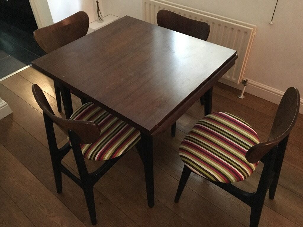 Vintage Extendable Dining Table Vintage 1950s G Plan Extendable Dining Table And Four Butterfly