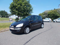 RENAULT MEGANE SCENIC DYNAMIQUE MPV BLACK 2007 ONLY 83K MILES BARGAIN 950 *LOOK* PX/DELIVERY