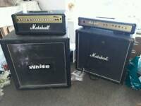 2x amplifiers and 2x marshall heads
