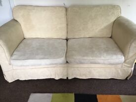 Buttermilk sofa bed from DFS , large two seater, folds out into full size double bed.