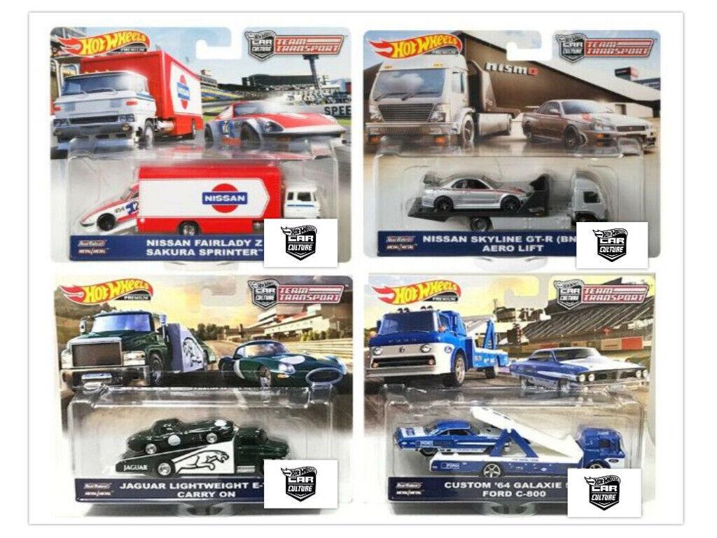 Hot Wheels 2019 Car Culture Team Transport Case F Set of 4 T