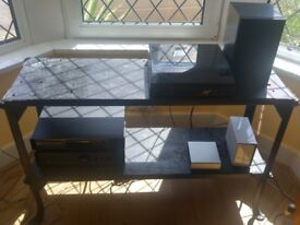 Industrial side table / workbench