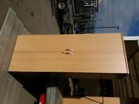 Tall wooden cupboards, shelving unit, storage unit, office storage