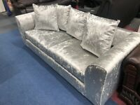 NEW Sofa 3+2 Seater Crush Velvet - Only £550 Collection / Delivery Available