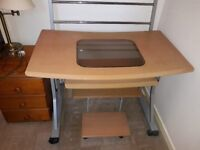 Solid Oak Computer Desk includes Printer pedistall excellent condition