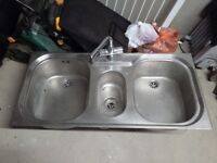 Stainless Steel Double Sink £30