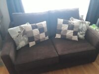 SCS Two seater sofa bed. As new. Bed hardly used.