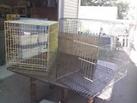 2 Fold Down Metal Dog Cages